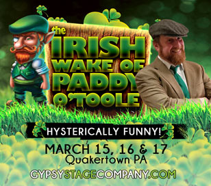 THE IRISH WAKE OF PADDY O'TOOLE in McCoole's Arts & Events Place
