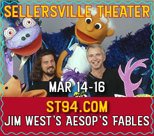 JIM WEST'S AESOP'S FABLES in Sellersville Theater 1894