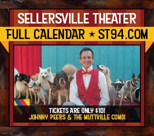 Come to the Sellersville Theater on September 16, 2017 and enjoy Johnny Peers and his lovable dogs. They will tickle your funny bone with one of our most beloved family shows! These Animal Planet stars perform fun, challenging tricks led by Johnny, a Ringling Brothers Clown College graduate. Some of Johnny's dogs are rescued from shelters, like Noodles, the world's only skateboarding basset hound and Squeaky, the ladder climbing terrier. Bring the whole family out to a show that is sure to impress and delight!