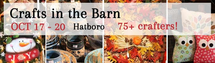 Don't miss it! Our semi-annual craft show featuring over 75 local crafters and artists displaying their creations in our 200 year old barn. We are located on the border of Bucks and Montgomery Counties, north of Philadelphia. Come for an experience that is like no other. Come find that perfect, thoughtful gift for everyone on your list...including yourself. Fall, Christmas and everyday creations that you will not find anywhere else! You won't be disappointed! Hours Wed thru Fri 9am - 9pm; Sat 9am - 5pm. Inventory restocked daily. Visa/MC/Discover accepted. For more information, check out CraftsInTheBarn.com or https://www.facebook.com/CraftsInTheBarn/. Call Gwyn Duffy 215-850-1888.