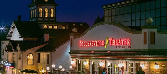 Live music at the Sellersville Theater in Bucks County, PA